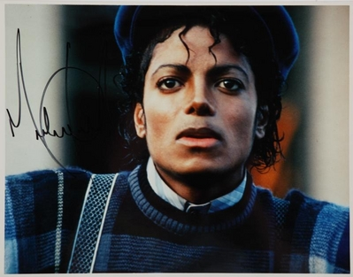 An Autographed photo Of Michael Jackson