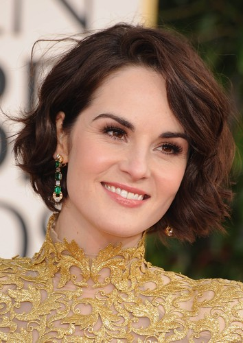 Michelle Dockery at The Annual 70th Golden Globes