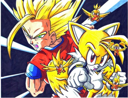 gohon ssj2 and super tails