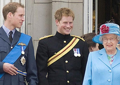queen elizabeth ii harry  william