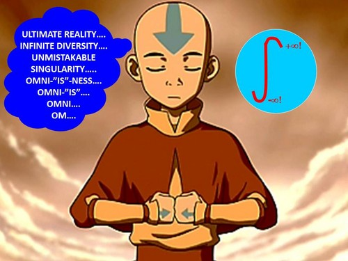 Aang contemplates Ultimate Reality