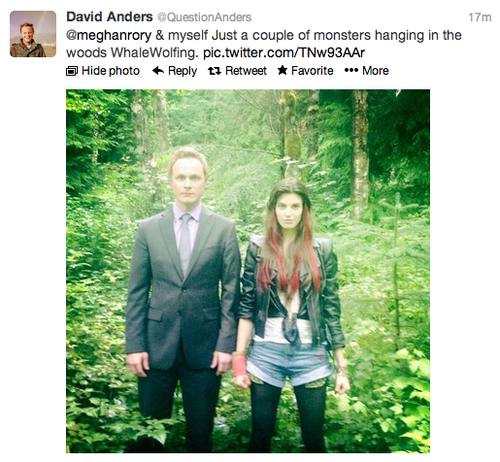 David Anders & Meghan Ory