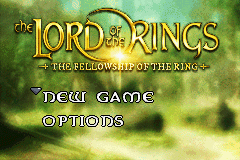 Lord of the Rings: Fellowship of the Rings (GBA) screenshot