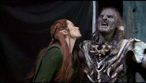 Tauriel and Orc Behind the Scenes