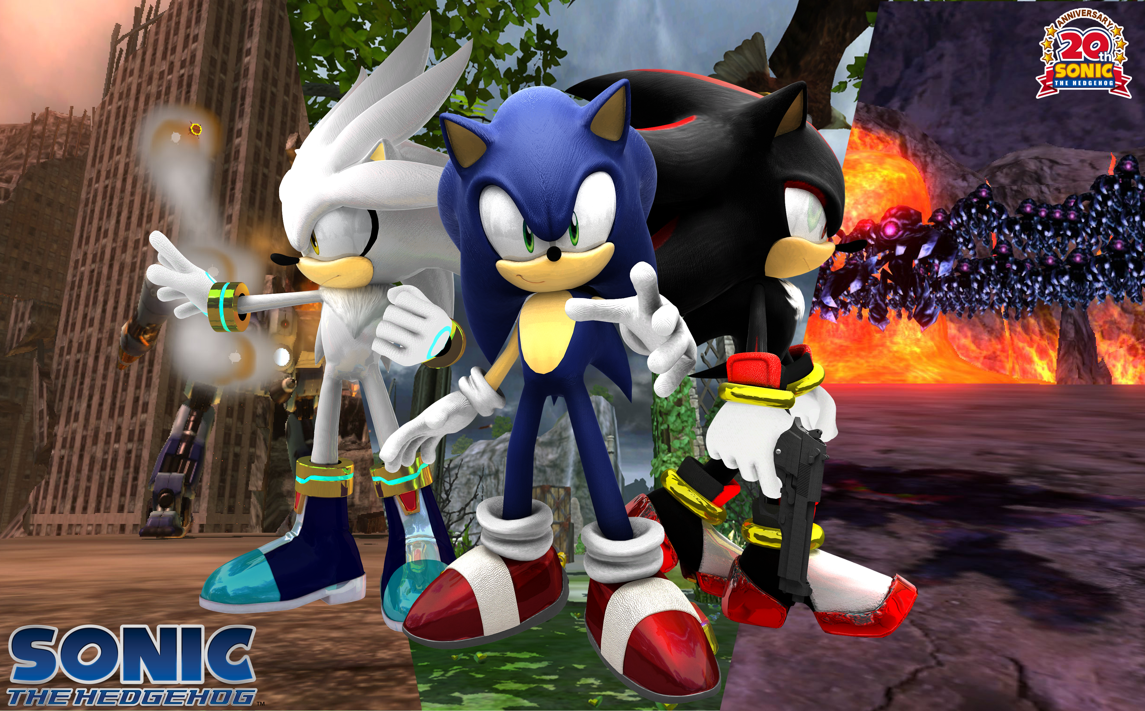 Past Present And Future Sonic The Hedgehog Photo 33414265