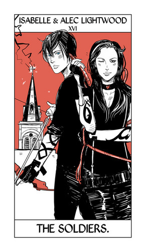 Cassandra Jean's Tarot Cards: Isabelle & Alec Lightwood {The Soldiers}.