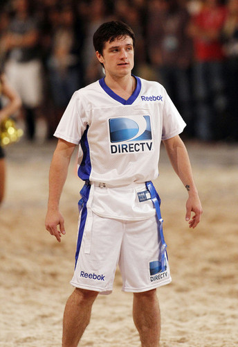 Josh Hutcherson at the DIRECTv Celebrity Beach Bowl (2/2/2013)