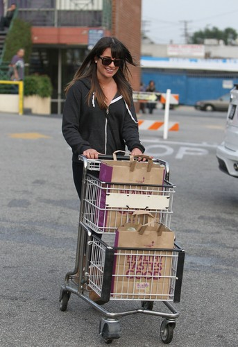 Lea Michele At Whole Foods In Los Angeles - February 5, 2013