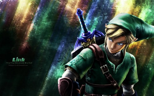 Legend of Zelda Link kertas dinding