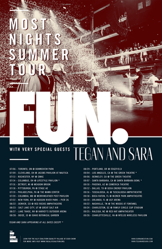 Most Nights Summer Tour Poster