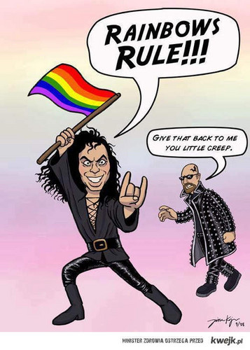 Ronnie James Dio (DIO) and Rob Halford (Judas Priest) (haha)