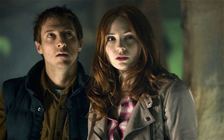Rory, Amy, The Doctor and River 写真