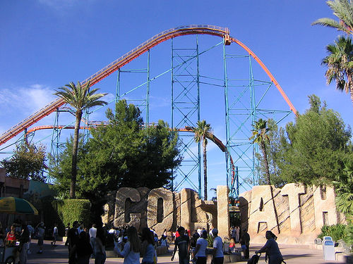 Six Flags Magic Mountian Goliath