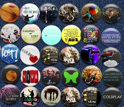 ~Coldplay Buttons~