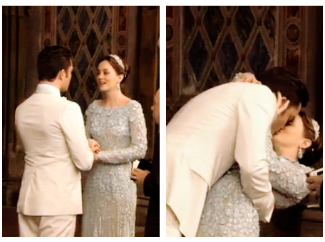 "Ed and Leighton in ""Chuck and Blair Wedding Scene"" from ""A big farewell to UESiders"""