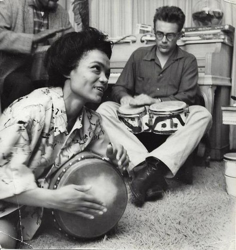 James with Eartha Kitt at a party