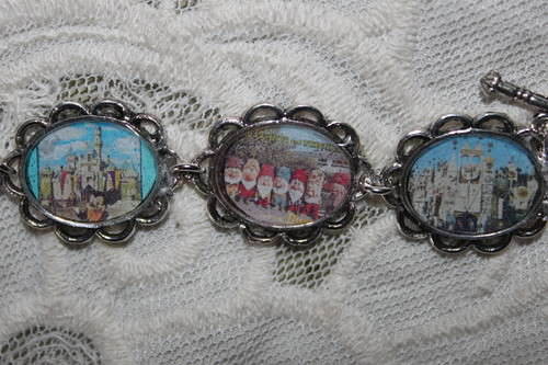Retro Disneyland Postcards bracelet