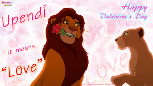 Simba Nala rose romantic valentine Love