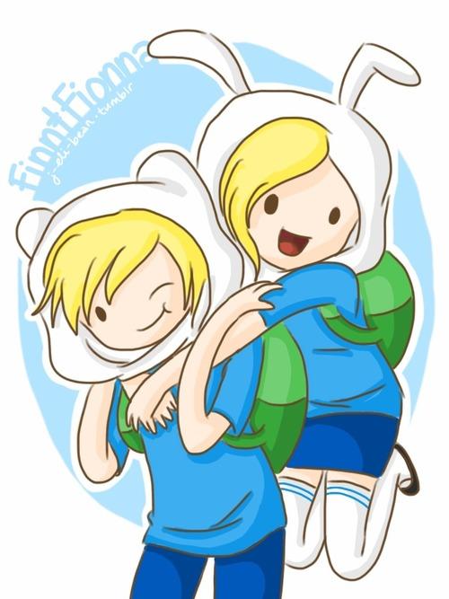 Fionna,Cake and Finn,Jake meet - Adventure Time With Finn