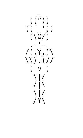 ASCII Art Woman from http://www.blingcheese.com/image/code/91/neked.htm