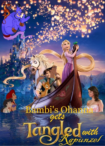 Bambi's Ohanna Gets ট্যাঙ্গেল্ড with Rapunzel