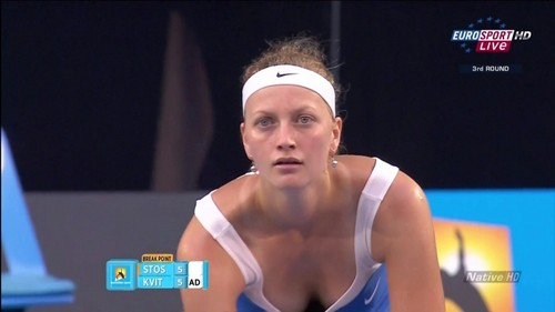 Kvitova breast top images