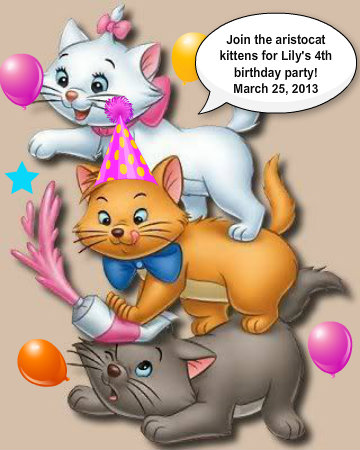 Lily's party invitation