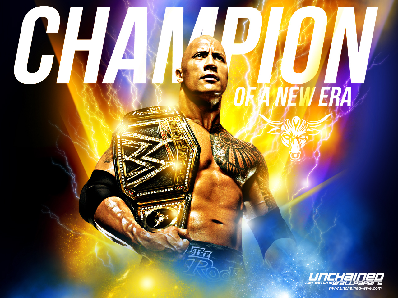 The Rock Champion Of A New Era Dwayne The Rock Johnson 壁紙