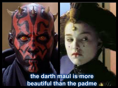padme and darth maul