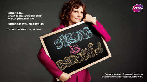 Susan Sarandon in Strong Is Beautiful: Celebrity Campaign