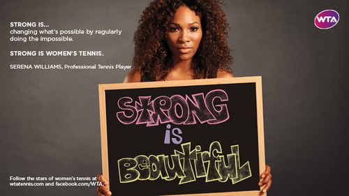 Serena Williams in Strong Is Beautiful: Celebrity Campaign
