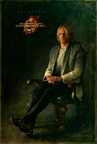 "Exclusive ""Catching fire"" portrait of Haymitch Abernathy"
