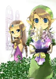 Link and Zelda Chibi