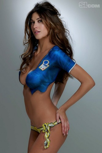 Melissa Satta in Bodypaint: 2010 Issue