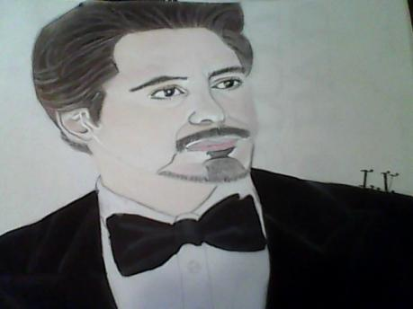 My drawing of Robert Downy Jr. as Tony Stark
