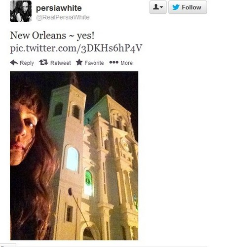 4x20 The Originals - Persia White on set