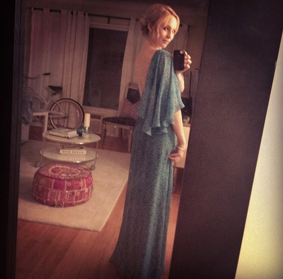 New Twitter pic - Candice previews her Genart Dinner dress!