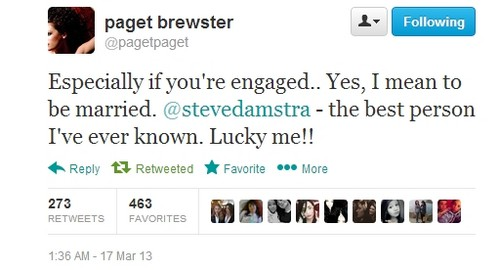 Paget and Steve are engaged!:)