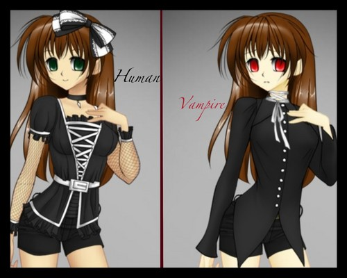my roleplay character victoria, she was a human but now she's a vampire