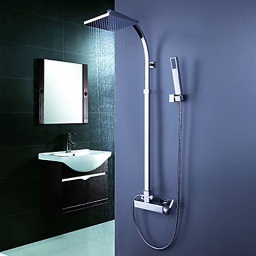 Faucets Images Contemporary Tub Shower Faucet With 8 Inch Head Hand Wallpaper And Background Photos