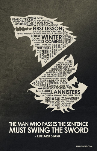 Game of Thrones Quote Poster