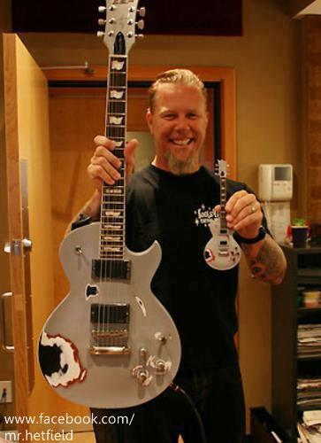 Hetfield and his guitars :)