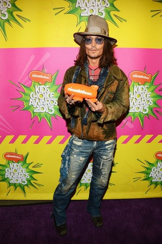 Johnny Depp Kids choice awards 2013