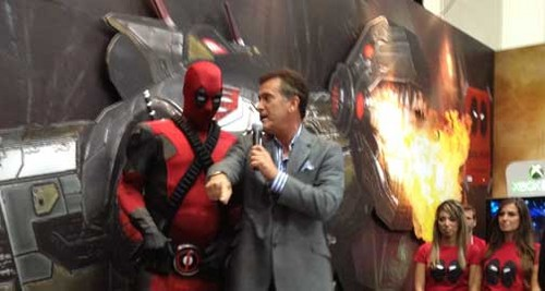 Bruce Campbell and Deadpool