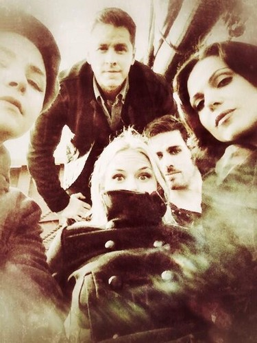 Colin & the cast of OUAT