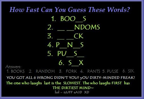 How Dirty Is YOUR Mind?