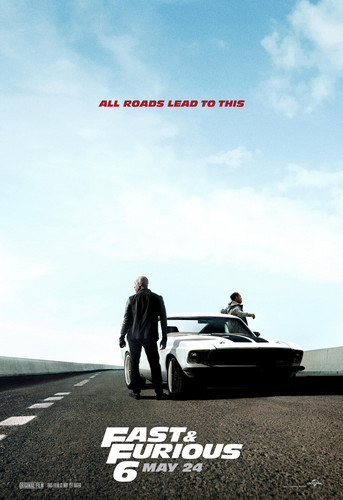 Fast and Furious 6 (2013) Poster - Tyrese Gibson & Ludacris