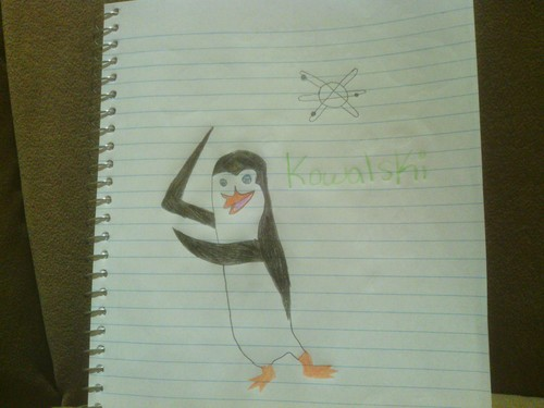 My first attempt at drawing Kowalski