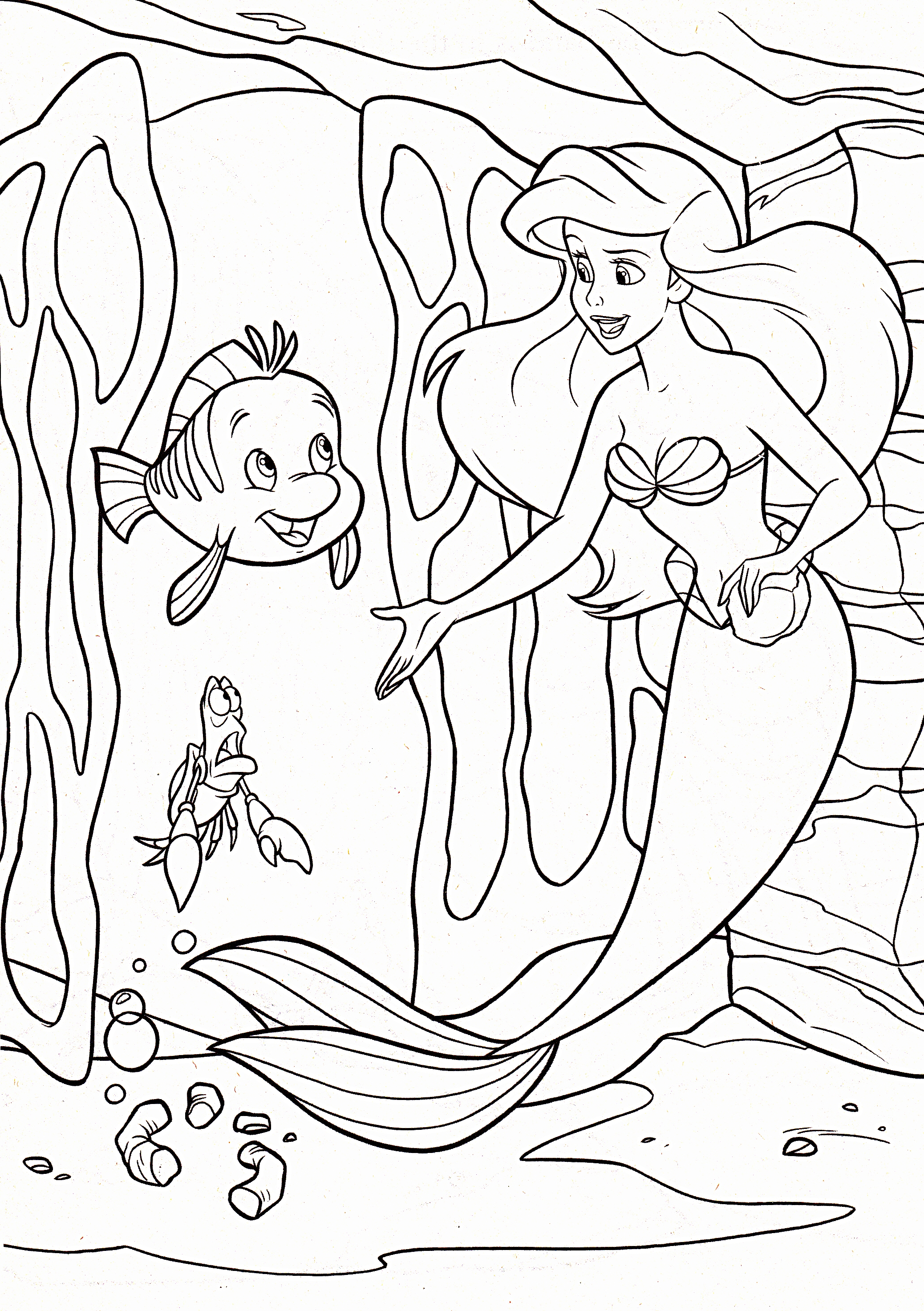 Princess Aerial - Free Colouring Pages
