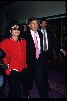 Michael And Good Friend, Donald Trump